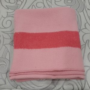 Vintage well loved blanket wool blend 74 by 77